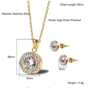 fancy fashions Jewelry - Crystal Necklace And Stud earrings Sets